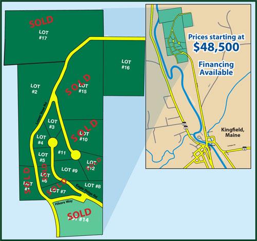 Kingfield Maine Map.L M Land Company Lot Map Price List